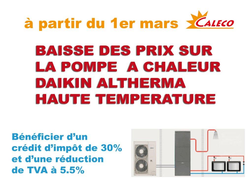 Baisse Des Prix Pac Air Eau Daikin Vente Installation Et