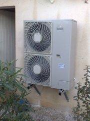 Chauffage par une pac air eau plancher dans une maison de for Chauffage pac air air